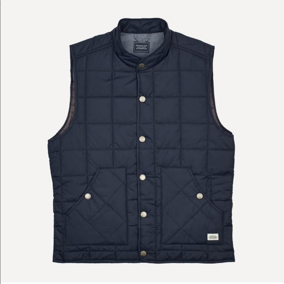 Frank & Oak Other - Frank and Oak navy Dartmouth quilted puffer vest